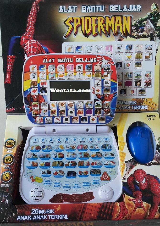 jual laptop mainan murah spiderman