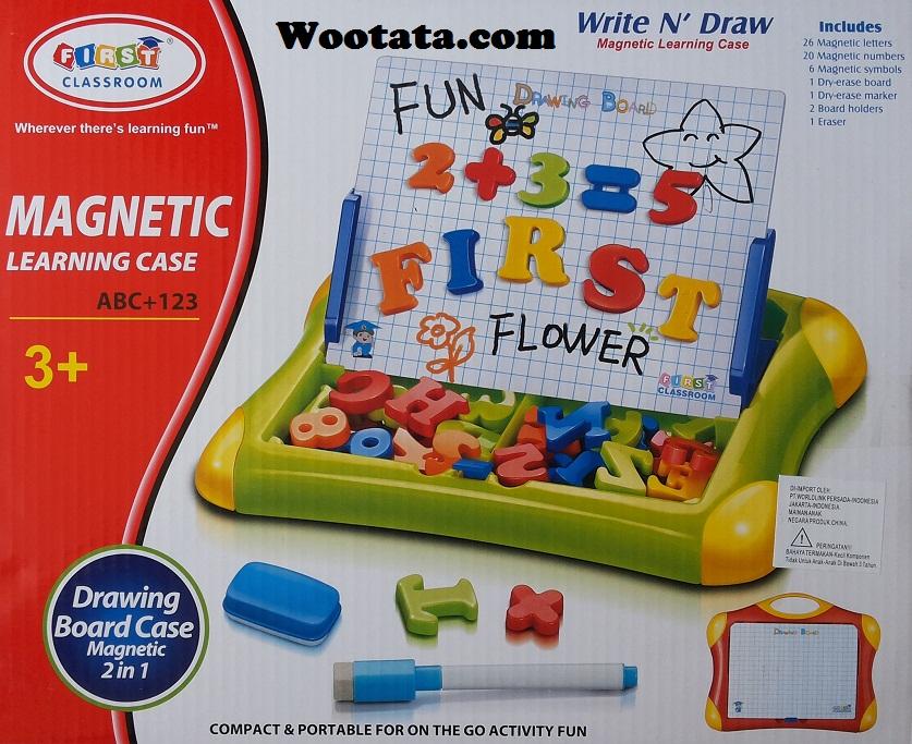 magnetic learning case mainan anak yang menggunakan magnet