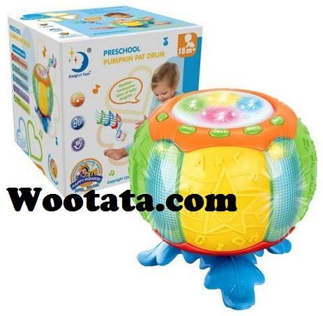 mainan-drum-bayi-preschool-pumpkin-pat-drum