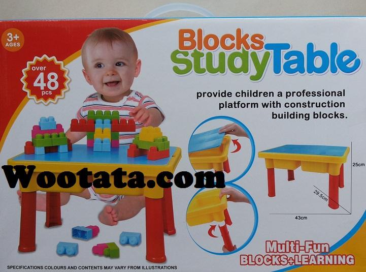 jual mainan blocks study table termurah