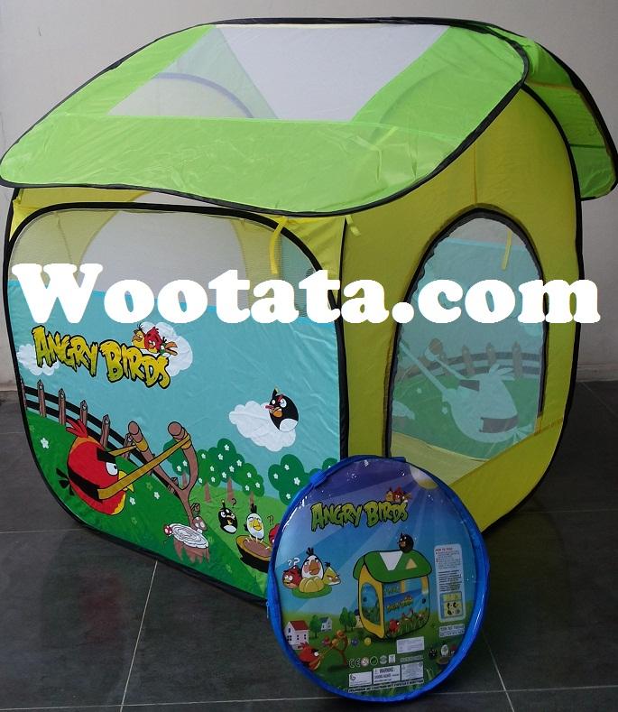 tenda anak angry birds berbentuk rumah