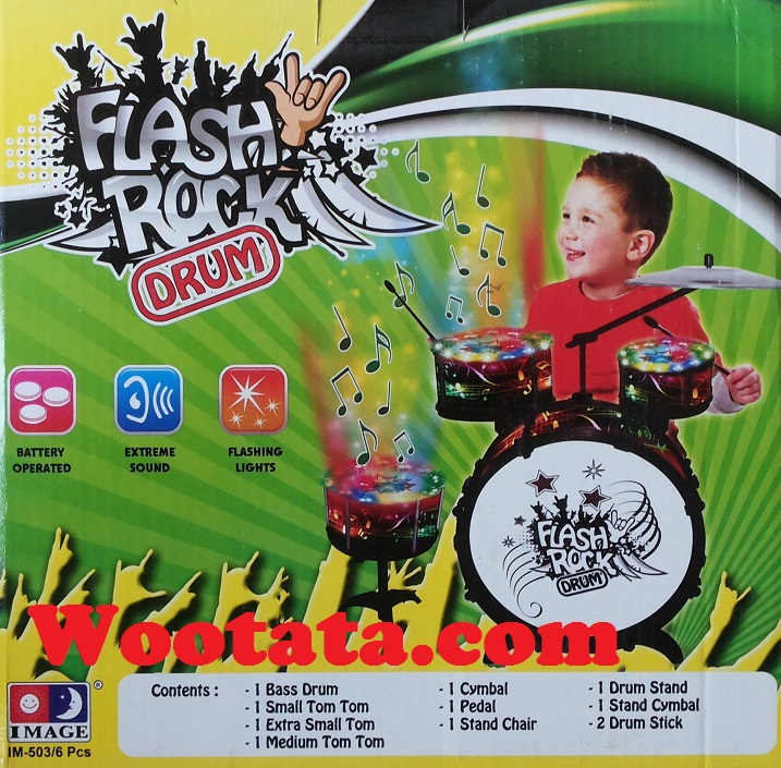 harga mainan drum mini anak flash rock drum