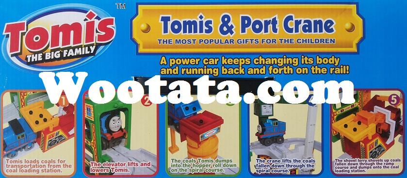 kado kesukaan anak laki-laki mainan kereta tomis port crane