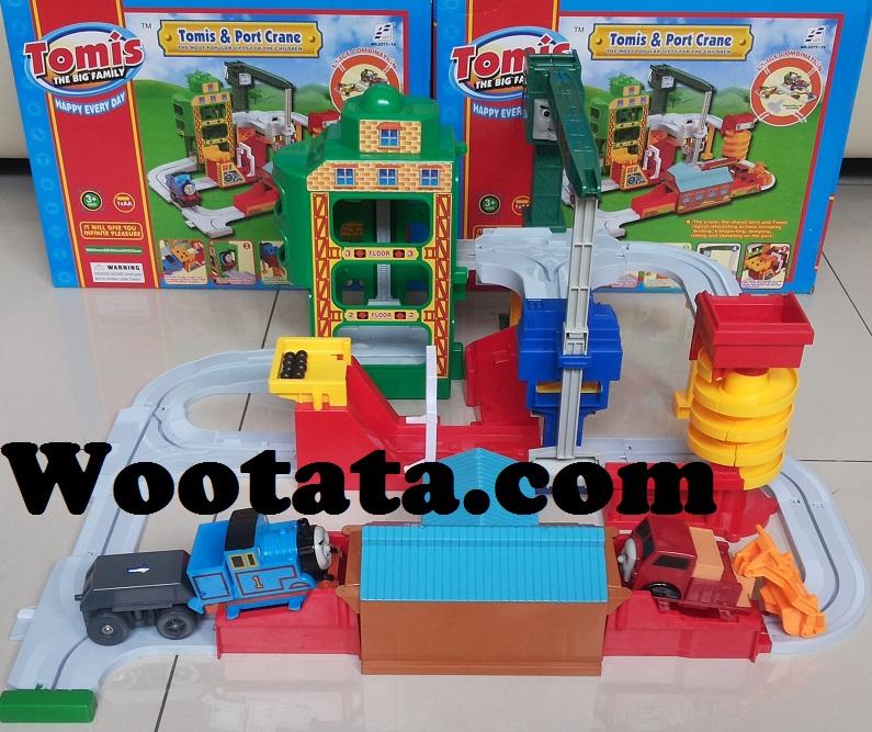 mainan kereta api anak thomas terbaru tomis port crane
