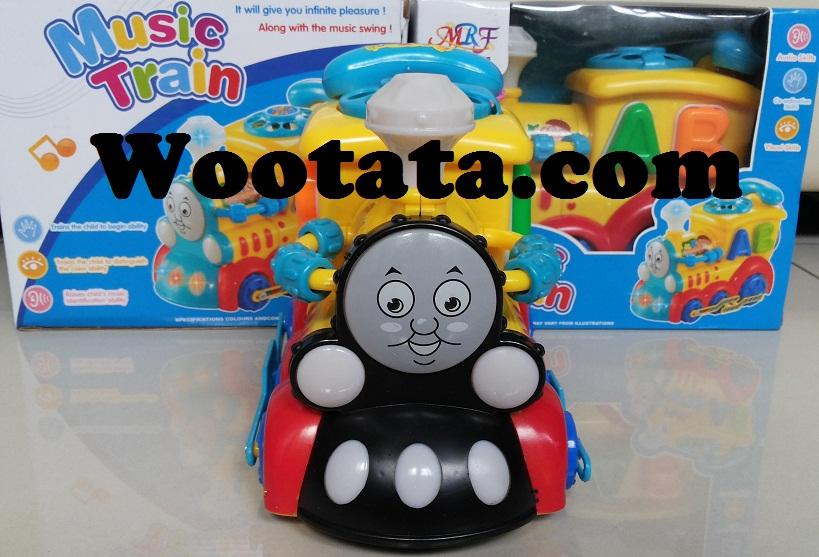 mainan kereta api baterai music train