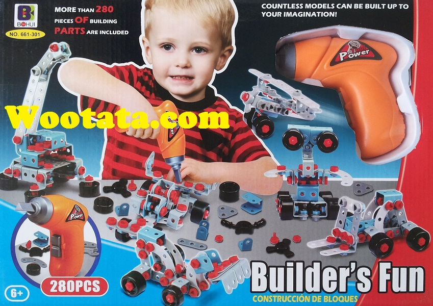 jual mainan rakitan murah builder fun