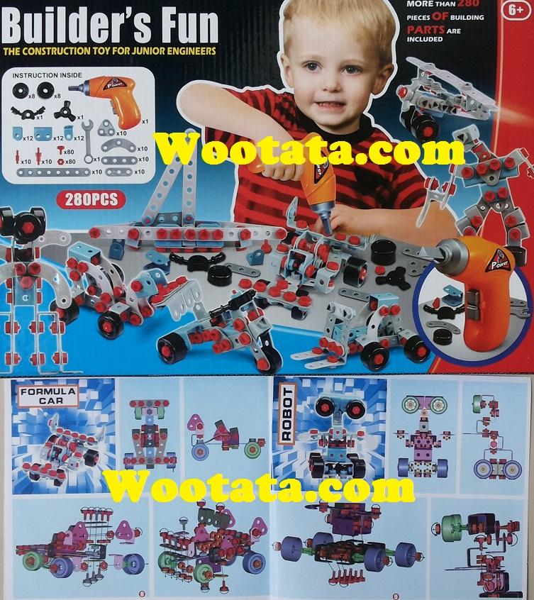 mainan rakitan berkualitas builder fun untuk anak usia 6 tahun