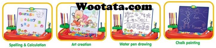 mainan edukatif untuk anak usia 3 tahun multifunctional art desk 4 in 1